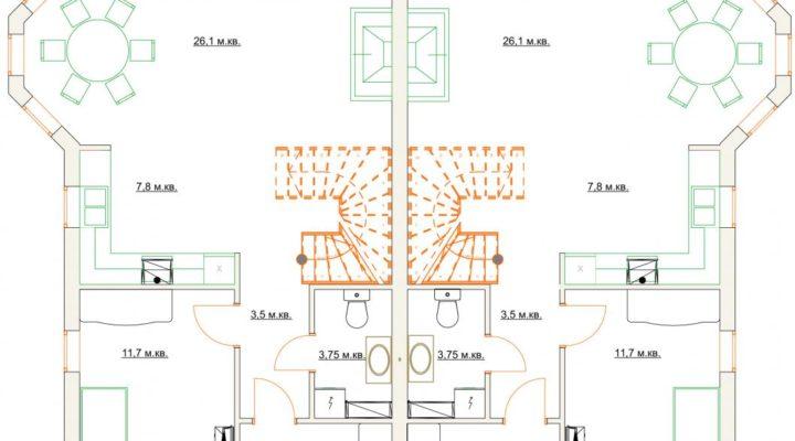 Купить дуплекс в Софиевской Борщаговке с документами. Без комиссии. floorplan 1