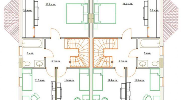Купить дуплекс в Софиевской Борщаговке с документами. Без комиссии. floorplan 2