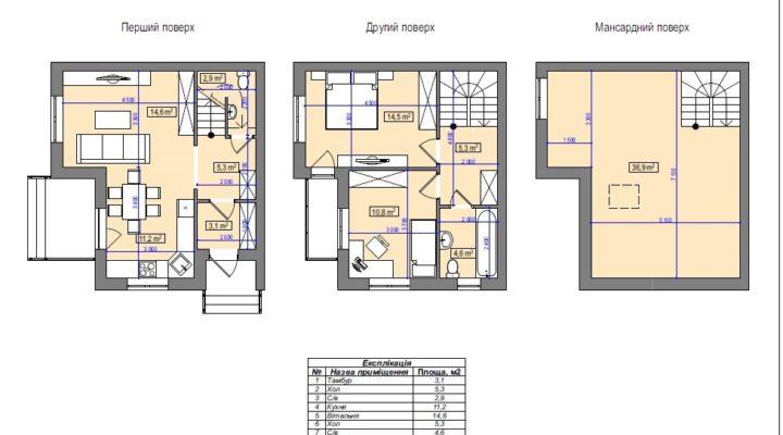 Купить таунхаус Белогородка 109 кв.м. с документами в ЖК «Амстердам». Без комиссии. floorplan 1
