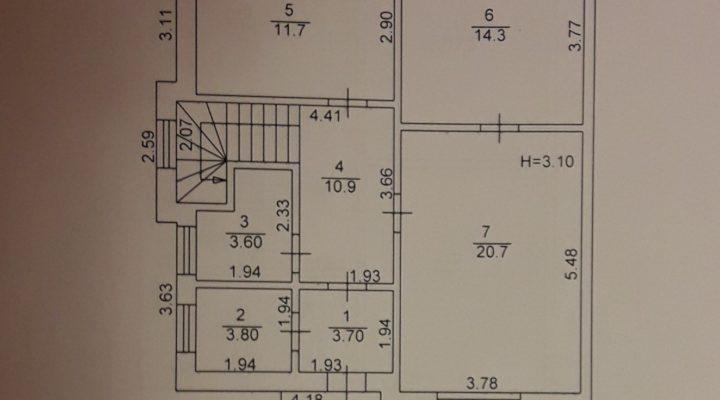 Продается дуплекс - таунхаус в Буче 137 кв.м. без комиссии. С документами. floorplan 4