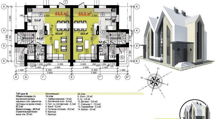 Продажа дуплекса таунхауса в Софиевской Борщаговке 600м от Киева возле ЖК София floorplan 2