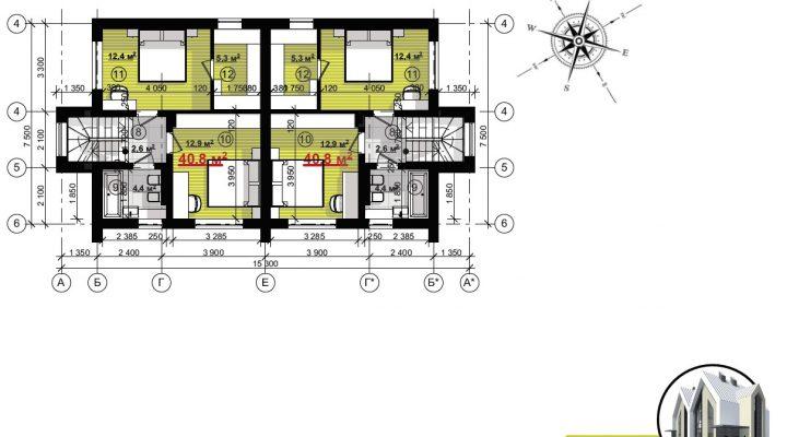 Продажа дуплекса таунхауса в Софиевской Борщаговке 600м от Киева возле ЖК София floorplan 1