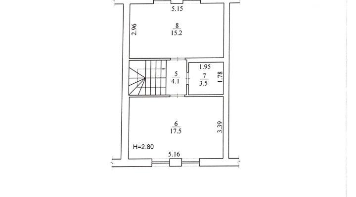 Продажа таунхауса с ремонтом и мебелью в Святопетровском. Без комиссии для покупателей floorplan 2
