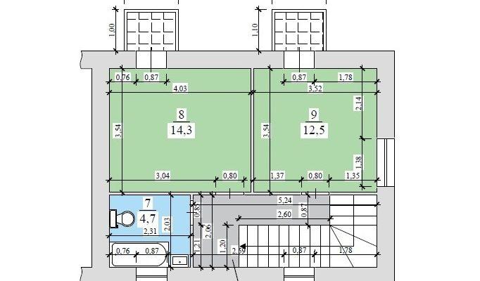 Купить таунхаус дуплекс в Киеве Берковцы с ремонтом и мебелью floorplan 2