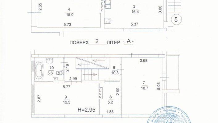 Продажа таунхауса в Киеве с центральными коммуникациями, рядом метро, с документами. Без комиссии floorplan 1
