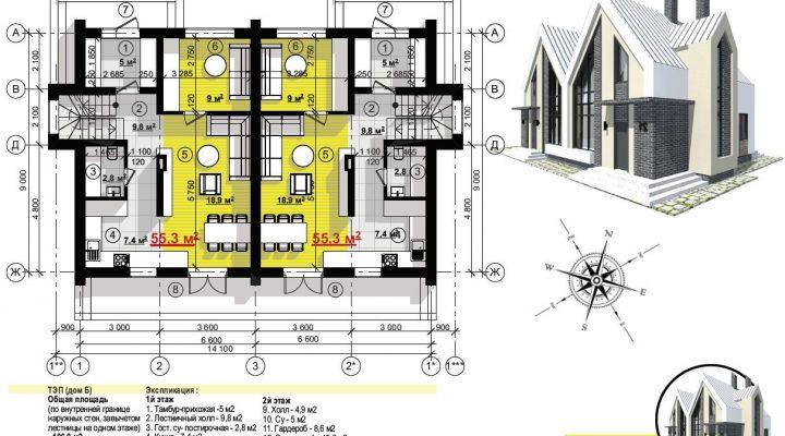 Купить дуплекс в Софиевской борщаговке ЖК София с центральной канализацией. 600 метров Киев floorplan 1